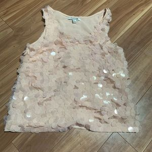 Forever 21 champagne pink sequin blouse